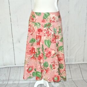 Talbots Skirts - Talbots  floral a-line skirt dusty rose Plus 14